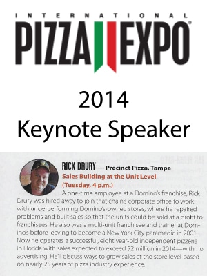 Precinct Pizza - 2014 International Pizza Expo - Keynote Rick Drury