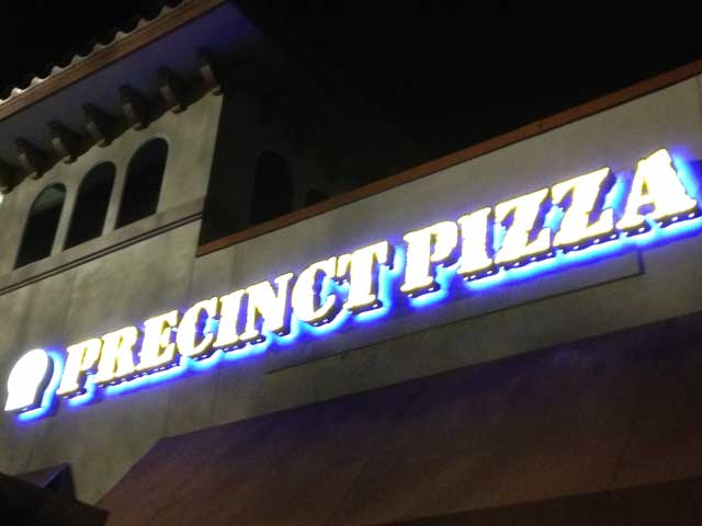 Precinct Pizza - Exterior Sign